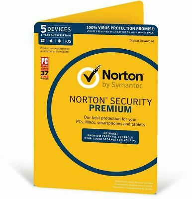 NEW Norton Internet Security DELUXE PREMIUM 2018 1 - 5 Devices Windows Mac