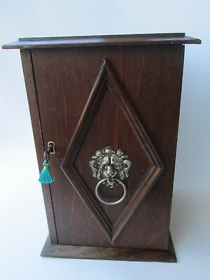 Oak Tobacco cabinet with storage and Chrome  hinges