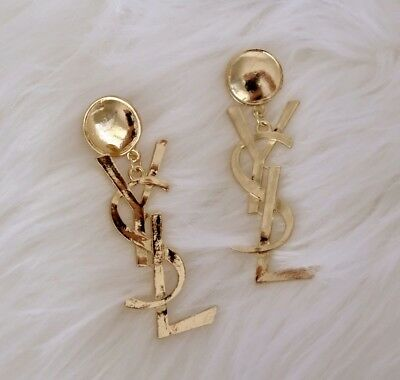 YSL Beauty Gift Earrings Gold NEW
