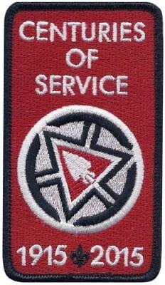 Order of the Arrow-2015 Centuries of Service Patch, Boy Scouts, OA