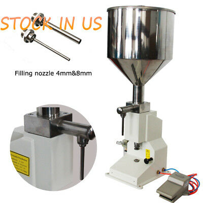 Pneumatic Filling machine For Fill Cream Cosmetic  paste Filler 0.17-1.7 OZ
