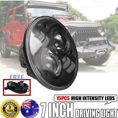 7inch 100W CREE Round LED Driving Headlight High-Low Beam Offroad 4x4WD For Jeep