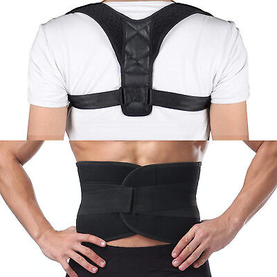 Waist Belt Brace Posture Corrector Pain Relief Lower Back Lumbar Therapy Support