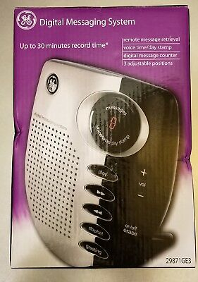 GE DIGITAL MESSAGING SYSTEM  29871GE3  Black and Silver NEW Answering Machine