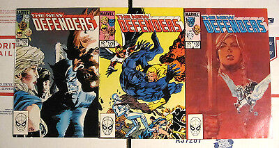 The New Defenders 128(Vf/nm),129(Vf/nm),130(Vf-) First Prints Marvel 1984