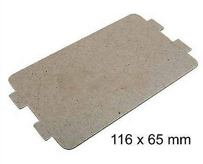 Plaque mica micro onde 116x65 mm 252100100616 PANASONIC SHARP AIRLUX DARTY