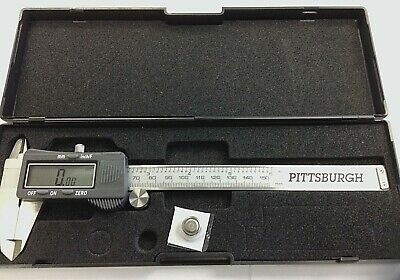"""Brand New 6"""" Digital Caliper (mm/inches/fractions) by Pittsburgh"""