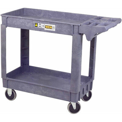 """Service Cleaning Cart Rolling Shelf Storage Housekeeping 5"""" Non-marring Casters"""