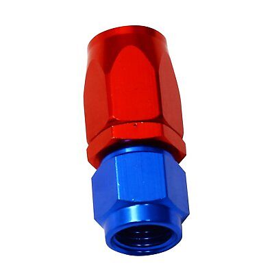 Red Blue AN8 8-AN Straight Fuel Oil Gas Swivel Fitting Hose End Adaptor