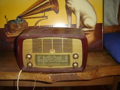 HMV LITTLE NIPPER  valve radio WITH SCARCE GOLD FRONT---WORKING