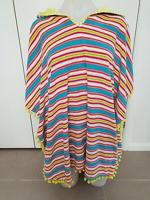 YOUNG HEATRS by Collette Dinnigan Hooded Towel/ Poncho- Size L ( 10- 12 ) NWT!