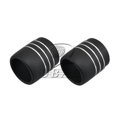 "Pair 3.5"" Scooter Muffler Exhaust Pipe End Tip Cap for Harley Touring 95-18 16"