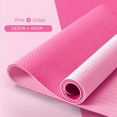 NEW TPE Yoga mat Exercise Fitness Eco Friendly Non Slip Dual Layer