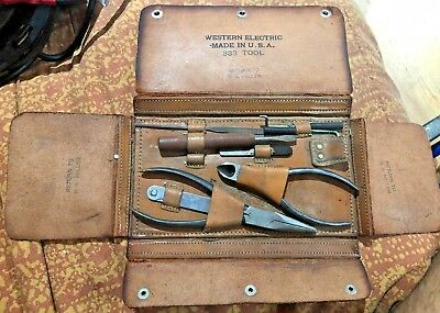 Western Electric 333 Telephone Repair Tool Kit Good Condition