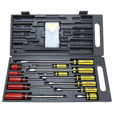 Craftright 19 PieceS Screwdriver Set with Precision set Slotted Phillips Case