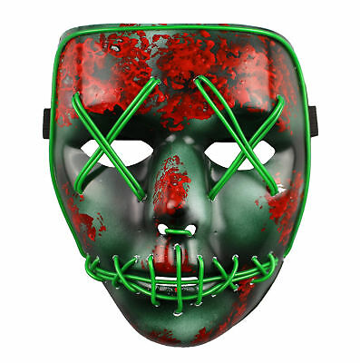 The Purge Maske Led Wahl Jahr Film Rave Party Fest Halloween Kostüm