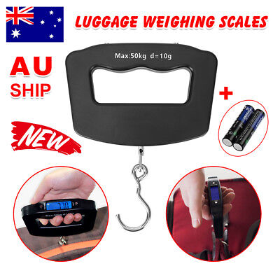 Electronic Portable Digital Luggage Scale Handheld Travel Suitcase Weighing AU