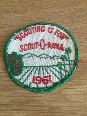 Boy Scouts Sew-on Badge Scouting Is Fun Scout-O-Rama 1961