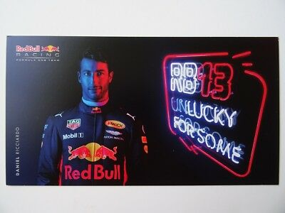 Daniel Ricciardo 2017 F1 Red Bull Racing Formula 1 card
