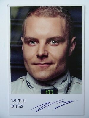 Valtteri Bottas 2017 Mercedes F1 Team Formula 1 card