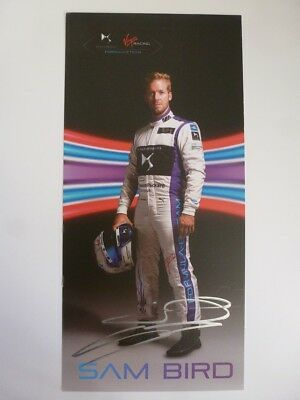 Sam Bird 2016 DS Virgin Racing Formula E signed card autograph