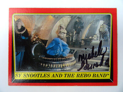 Star Wars autograph Michele Gruska Sy Snootles hand signed Topps card