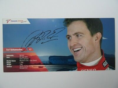 Ralf Schumacher Panasonic Toyota Racing Formula 1 card