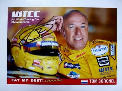 Tom Coronel WTCC signed card autograph