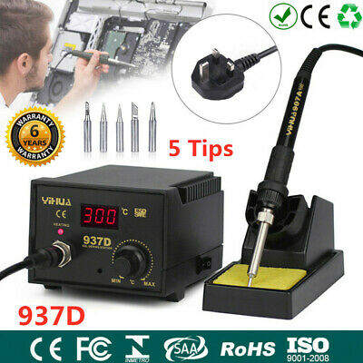 937D Electric Iron Soldering Station SMD Welder Welding Tool Kit 5 Tips 230V 45W