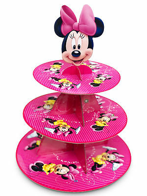 Minnie Mouse 3-Tier Cupcake Stand Girls Party Cup Cake Decorations Baby Shower