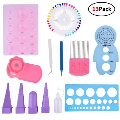 13pcs/Set Paper Quilling DIY Tool Kit Board Template Handmade Paper Crafts Tool