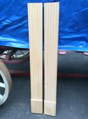 """Pair Of New 51"""" Tall Wood Fireplace Columns - Good Look !!!"""