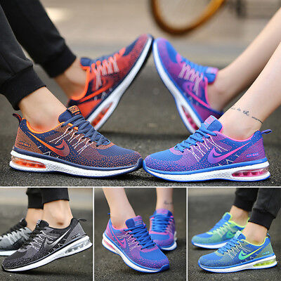 UK Mens Running Trainers Womens Gym Walking Shock Absorbing Sports Fitness Shoes