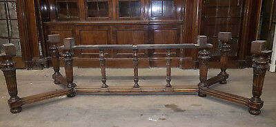 19Th Century Carved Walnut Base For Refectory Dining/ Boardroom Table Base, Only