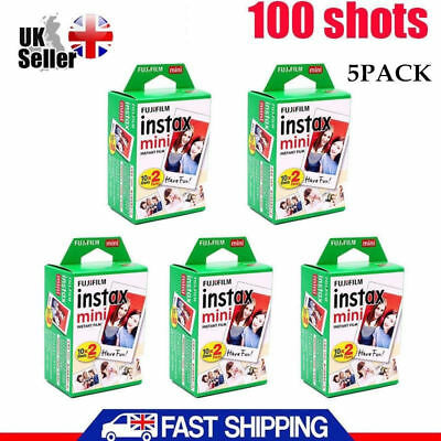 Fuji Instax Mini Film for Fujifilm Mini 8 7s & Mini 90, 50 Cameras 100 shots UK