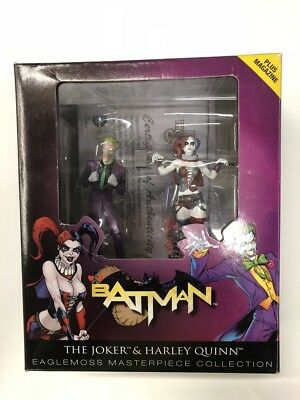 le joker et harley quinn figurine eaglemoss masterpiece collection boit livret