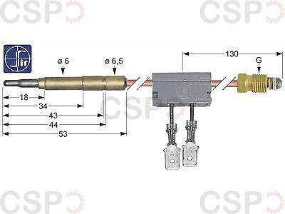 Thermocouple Sit With Interrupter M9X1 L 600Mm Plug Connection Ø6.0Mm F 6.3Mm