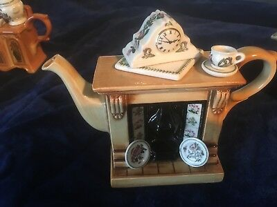 Portmeirion ONE CUP FIREPLACE Miniature Teapot Botanic Garden Design 1st Quality