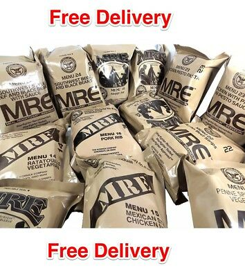 Food Ration Military Us Army Mre Ration Pack * 24 Meals  You Choose 100% Orig