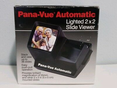 Pana-Vue FPA005 Illuminated Automatic Slide Viewer for 35mm, Up to 36 Slides