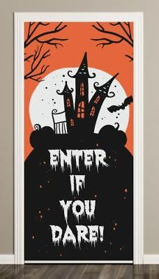 HANGING ENTER IF YOU DARE BLOODY GAUZE ARROW SIGN Hanging Party Decoration 41203