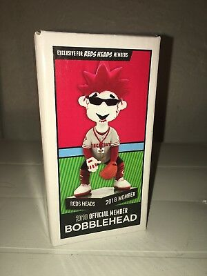 REDS HEADS Cincinnati Reds 2018 Kids Club Mascot Bobble Head Limited Edition New