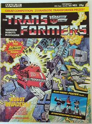Transformers UK Comics (x 22) including #1 No.1 Marvel 1980`s The Trans Formers