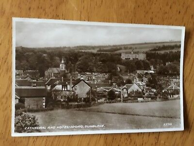 Real Photograph Postcard - Cathedral And Hotel-Hydro  Dunblane.