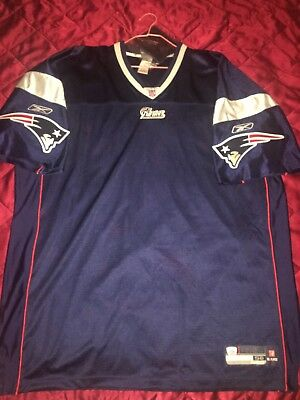 NFL Reebok New England Patriots Authentic On Field Home Blank Jersey 56 914ddf498