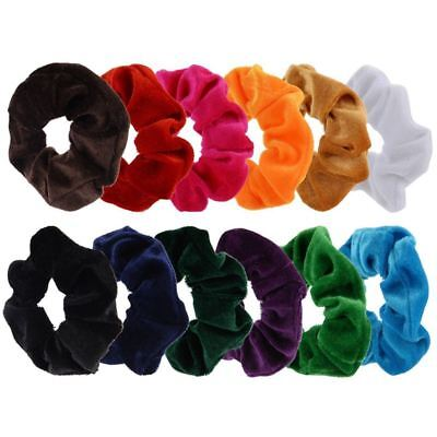 12 Pack Hair Scrunchies Velvet Scrunchy Bobbles Elastic Hair Bands, 12 Col B4E2