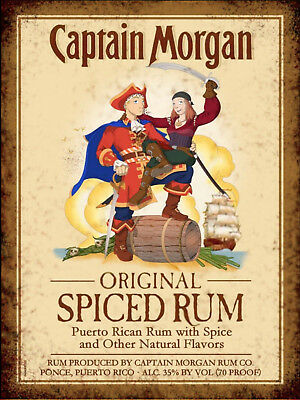 Captain morgan rum METAL SIGN 2 Sizes Available ideal for pub Man Cave bite