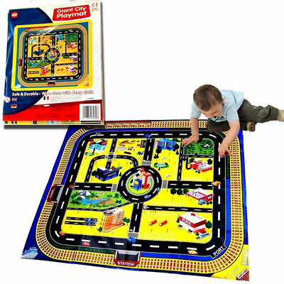 Giant Kids City Playmat Fun Town Cars Play Road Plastic EVA Toy NEW