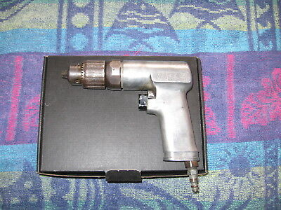 "Snap-on Tools USA 3/8"" Air Pneumatic Reversible Drill PDR3A NO KEY working good"