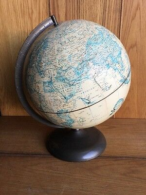 "Old Vintage Rand McNally 12"" Gorgeous Terrestrial Collectible Globe Planet Stand"